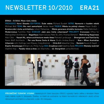 newsletter 10/2010 - Era21