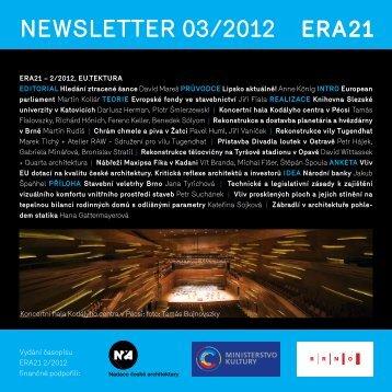 newsletter 03/2012 - Era21