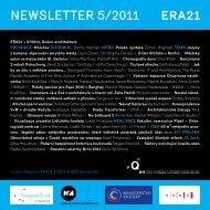 newsletter 5/2011 - Era21