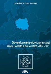 Główne kierunki polityki zagranicznej rządu Donalda Tuska w latach ...