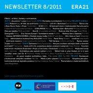 newsletter 8/2011 - Era21