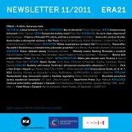newsletter 11/2011 - Era 21