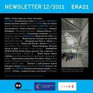 newsletter 12/2011 - Era 21