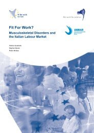 Fit For Work? Musculoskeletal Disorders and the Italian Labour Market