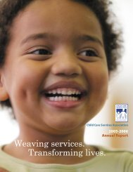 CCSA's 2005-2006 annual report - Child Care Services Association