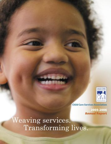CCSA's 2005-2006 annual report - Child Care Services Association