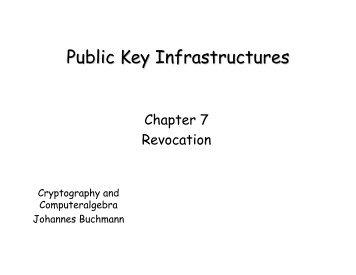 Public Key Infrastructures - Technische Universität Darmstadt