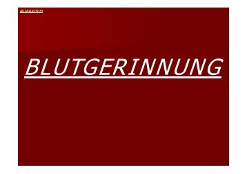 BLUUUUT!!!!! - Biochemie-trainings-camp.de