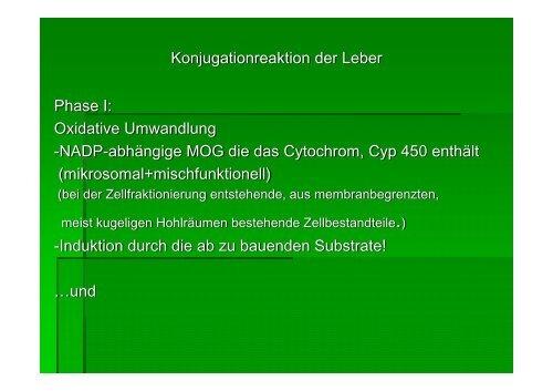 Konjugationreaktion der Leber Phase I - Biochemie-trainings-camp.de