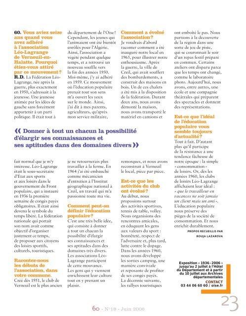 Numéro 18 - Conseil général de l'Oise