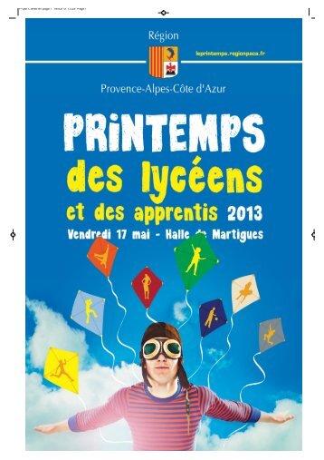 PDLA 2013 ROAD BOOK enseignants-3 - Printemps des lycéens et ...