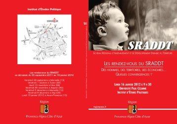 Télécharger l'invitation et le programme (1048 Ko) - SRADDT