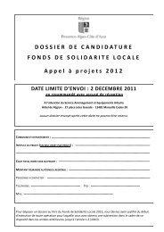 DOSSIER DE CANDIDATURE FONDS DE SOLIDARITE LOCALE ...