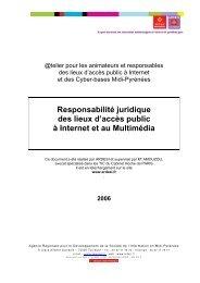 Responsabilité juridique des lieux d'accès public à Internet et ... - ERIC