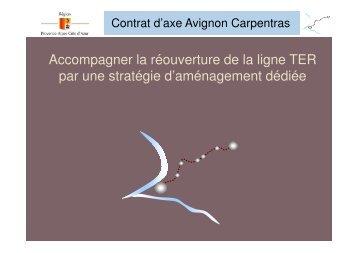 Le contrat d'axe Avignon Carpentras