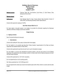 Wolfeboro Board of Selectmen Meeting minutes Unapproved ...