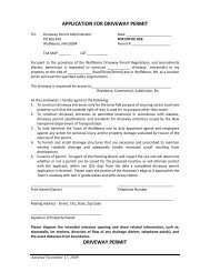 APPLICATION FOR DRIVEWAY PERMIT - Town of Wolfeboro