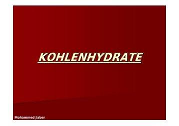 KOHLENHYDRATE - Biochemie-trainings-camp.de