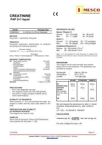 CREATININE PAP 2+1 liquid - inmesco