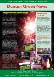 August 2012 - Dunton Green Parish Council
