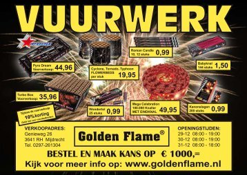BESTEL EN MAAK KANS OP € 1000,= - Golden Flame