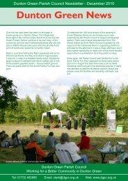 Dunton Green News - Dunton Green Parish Council