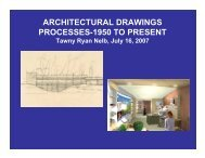 architectural drawings processes-1950 to present - CCAHA