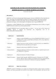 contrat de licence d'utilisation du logiciel MORPH-M-PYTHON