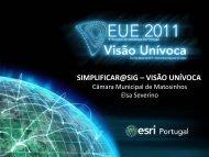 Simplificar@SIG - Esri Portugal
