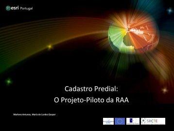 Cadastro Predial: O Projecto-piloto da Região ... - Esri Portugal