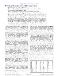 Thermal conductivity of diamond-like carbon films - University of ...