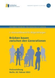 Brücken bauen zwischen den Generationen - Herbert-Quandt-Stiftung