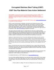 Corrugated Stainless Steel Tubing (CSST) - Maine Chapter IAAI