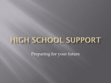 High School Support - Psharvard.org