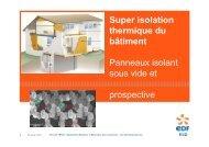 Super isolation thermique du bâtiment Panneaux isolant sous vide ...