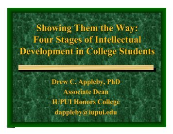 Four Stages of Intellectual Development in College Students ...