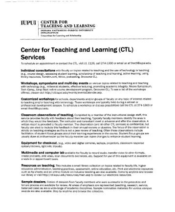 Center for Teaching and Learning Service - Newbrough - Faculty ...