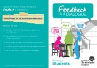 Feedback is a Dialogue Student Leaflet - University of Strathclyde