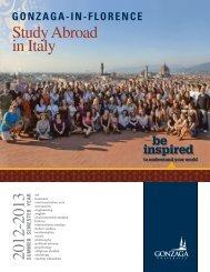2012-2013 Study Abroad in Italy - Gonzaga University