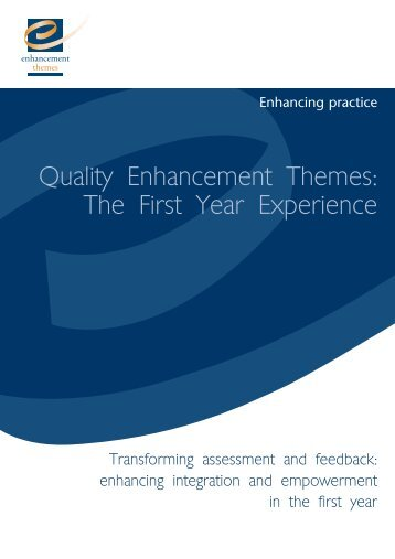 QAA277 Transforming Assess.qxd - the Enhancement Themes ...