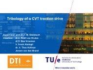 Traction drive modeling - van de Bond voor Materialenkennis