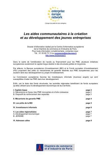 Les aides communautaires à la création et au ... - pic2europe.fr