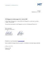 MT Højgaard a/s delårsrapport for 1. halvår 2009 - Monberg & Thorsen