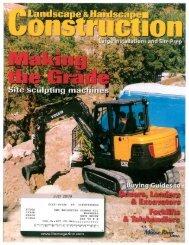 july 2009 landscape magazine - Takeuchi US