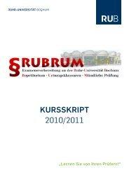 KurssKript 2010/2011 - Juristische Fakultät - Ruhr-Universität Bochum