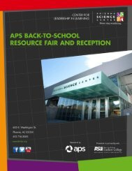 APS Back to School Resource Fair and Reception - Arizona Science ...