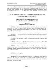 Ley Patrimonio Cultural Baja California - Tijuana
