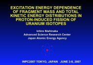 excitation energy dependence of fragment mass and total kinetic ...