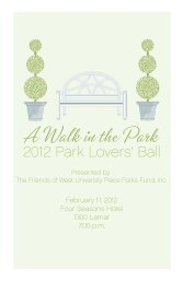 Park Lovers' Ball 2012 - Friends of West University Parks