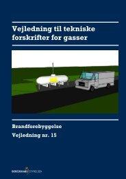 Vejledning til tekniske forskrifter for gasser (pdf) - Beredskabsstyrelsen